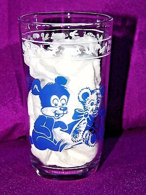 Vintage Swanky Swig Kraft Jelly Jar Juice GLASSES ANIMAL PIGS BEARS TEDDY GLASS