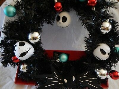 Disney Nightmare Before Christmas Wreath by KCare Tim Burton NIB