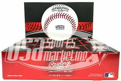 (12) Rawlings 2018 World Series MLB Official Game Baseball Boxed - Dozen