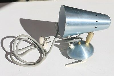 Vintage Anodised clip on bed light lamp Blue Colour