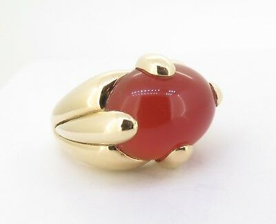 .An 18ct Gold Italian Carnelian The Singers Stone Ladies Dress Ring Val $2895