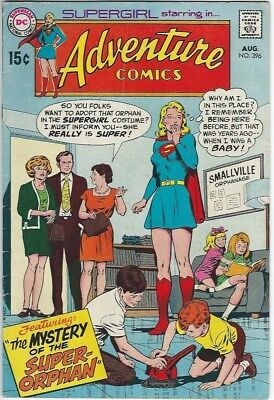 ADVENTURE COMICS 396 DC COMIC BOOK 1970 SUPERGIRL Mystery of the Super-Orphan