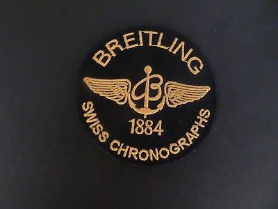 BREITLING SWISS WATCHES black & gold  IRON ON 3 X 3 PATCH