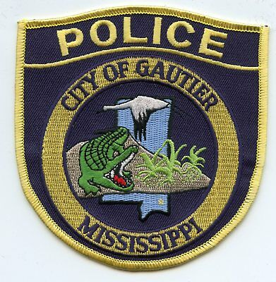 GAUTIER MISSISSIPPI MS alligator POLICE PATCH
