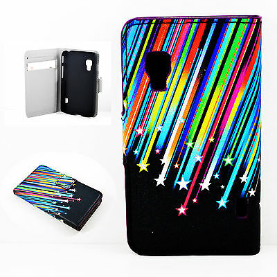 Shooting Stars PU Leather Flip Wallet Case Cover For LG Optimus L5 II Dual E455