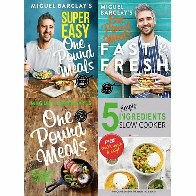 Miguel Barclay's Super Easy One Pound Meals 4Books collection set fast and fresh