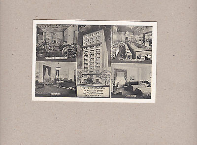 Vintage Postcard Hotel Wentworth New York NY Multiple Scenes