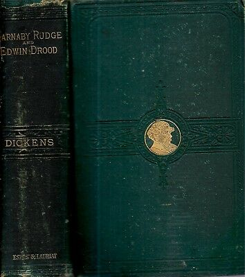 1880 Charles Dickens Barnaby Rudge & Mystery Classic Edwin Drood Illustrated