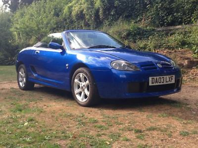 MG TF 135, 2003 in blue with black roof, 57880 miles, 12 months MOT