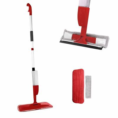Red Floor Spray Mop Water Spraying Home Microfibre Kitchen Tiles Floor Cleaner