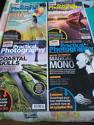 NEW 3 x (Oct/ Sep/ Aug) 2018 Practical Photography Magazines (£5.49 each x 3)