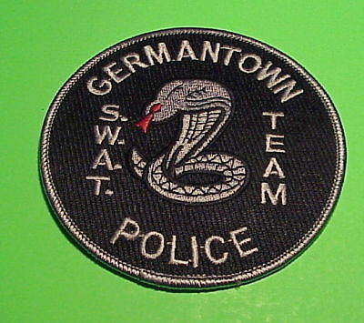Germantown  Tennessee  Swat Team  Subdued ( Snake ) Police Patch   Free Shipping
