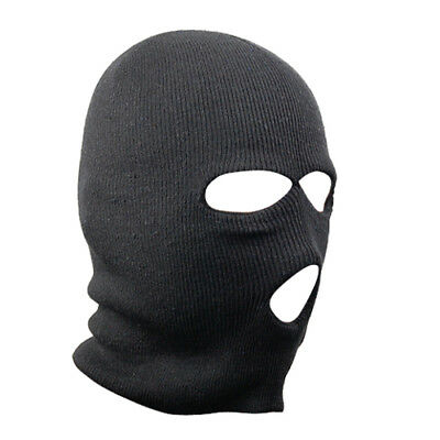 Black Balaclava SAS Style 3 Hole Mask Neck Warmer Paintball Fishing Ski Hat Bike