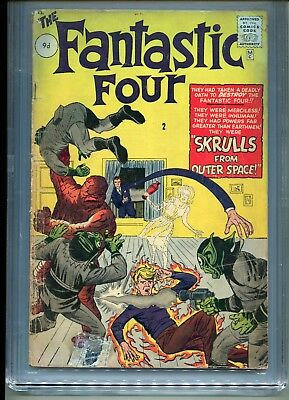 Fantastic Four # 2 - 2Nd Appearance Ff - 1St Skrulls - Cgc 2.0 - Key - 1962