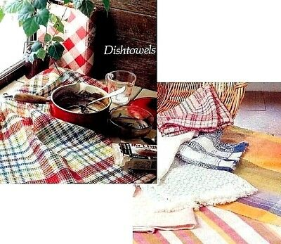 Handwoven's Design Collection 5: DISHTOWELS ~ rosepath, waffle weave, swedish ++