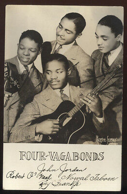 1938 Rppc, Musical Group The Four Vagabonds, Fan Mail, Early R&b Group