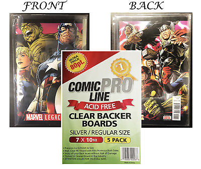 CPL Crystal Clear Premium Quality Archival 80pt Silver Comic Boards 5ct Pack