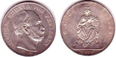 GERMANY (Prussia) THALER 1871 (Ag/18,57g/33mm) KM 500 (XF)