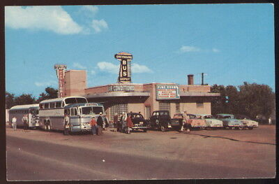1950S Pc, Greyhound Bus Station & Waterman's Cafeteria, Rolla, Mo. Route 66