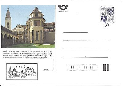 CZECH REPUBLIC POSTCARD PRE STAMPED Renaissance chateau IN TELC