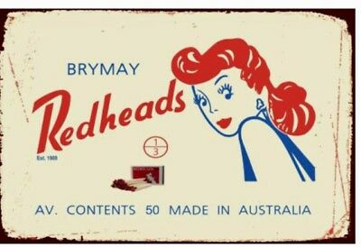 Redheads Metal / Tin, Sign / Plaque Advertising Kitchen New