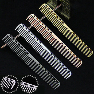 Aluminum Metal Cutting Comb Hair BrushHairdressing & Barbers Salon Professional