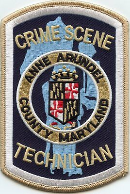 Anne Arundel County Maryland Md Crime Scene Investigator Tech Csi Police Patch