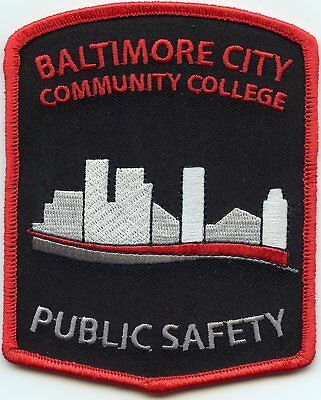 new BALTIMORE CITY MARYLAND MD COMMUNITY COLLEGE PUBLIC SAFETY POLICE PATCH