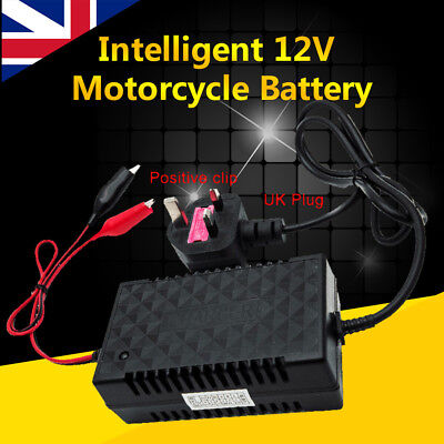 Intelligent 12V Automatic Smart Fast Motorcycle Battery Charger Trickle UK Plug