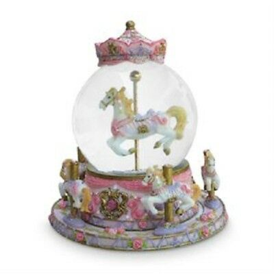Musical Revolving Carousel Horse Snowglobe Water Ball Girls Boys Child Baby Toys