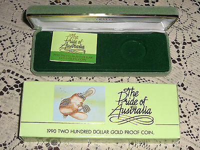 Empty Box and Certificate for Proof 1990 2 Hundred Dollar Coin
