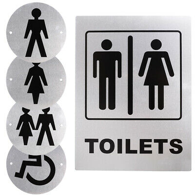 Door Signs Toilet Sign Bathroom WC Wall Plaque Restroom Ladies Gents Decor Style