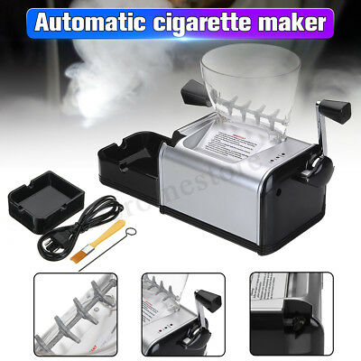 Electric Automatic Rolling Machine Cigarette Roller Maker Inject Tube + EU Plug
