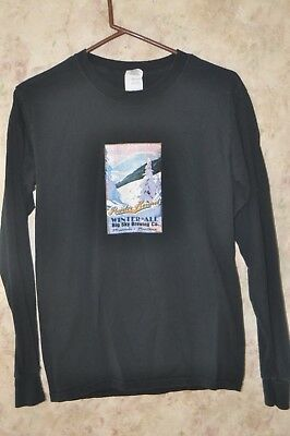 "Big Sky Brewing Co. ""Powder Hound""  Winter Ale Long Sleeve T-Shirt Size Small"