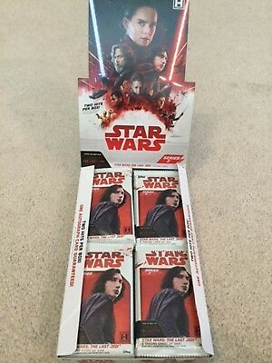 24 Sealed Hobby Packs 2018 Topps Star Wars The Last Jedi series 2 cards  NO HITS