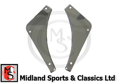 PAIR AHH7278//9SS MGB STAINLESS STEEL REAR BUMPER INFILLS