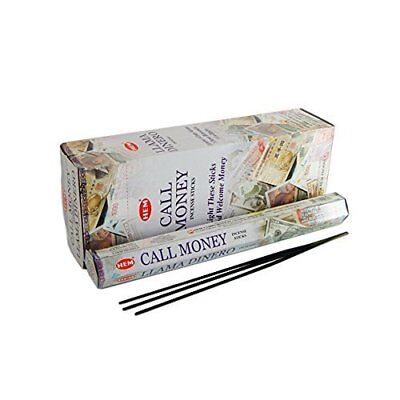 Hem Call Money Incense Bulk 6 x 20 Stick Box, 120 Sticks (Llama Dinero)