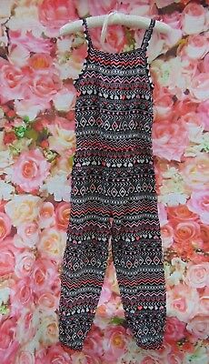 KIDS Vintage 80s Multi Go Go Romper JumpSuit AGE 7/8 by Faded Glory (JS84)