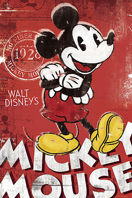 Poster MICKEY MOUSE - Since 1928 - Red (FP2515) ca60x90cm NEU  58589