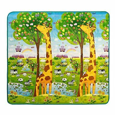 Baby Crawling Play Mat Kids Playing Gym Eductaional Pad 2 Sides 200 X 180cm X 0.