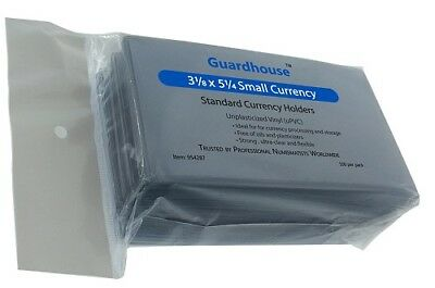 Guardhouse Currency Sleeves Fractional/small Size Us Notes (100)