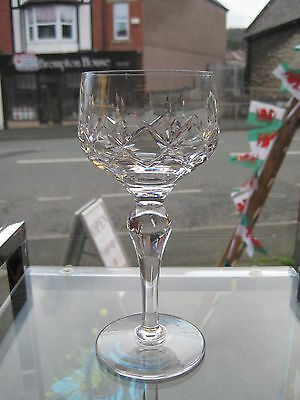 Stuart Crystal Carlingford Large Hock / Wine Glass Etched Stuart