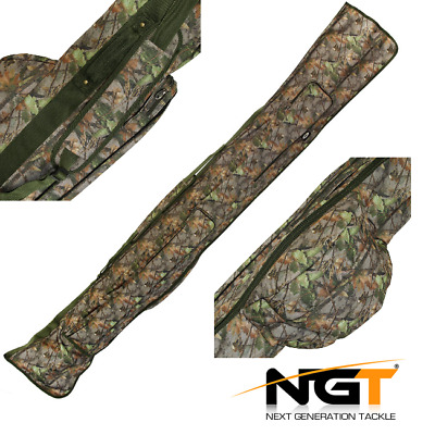Ngt Carp Fishing Deluxe Camo 3+3 Padded Rod And Reel Holdall Bag 12Ft Carp Rods