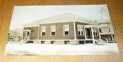 The Lawrence Memorial Library Bristol VT Old Real Photo  Postcard  L26