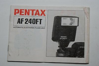Pentax AF-240FT Automatic Electronic Flash Operating Manual ,Good Used Condition