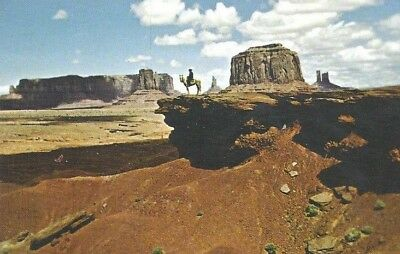 AZ - UT - Navajo posing on butte and Monument Valley - look!  #AMERICANA
