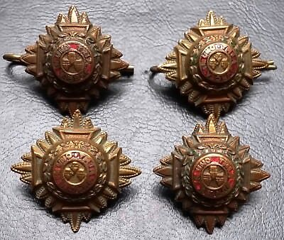 Collection of 4 Royal Officer's Badges - Tria Juncta In Uno - Very Collectible