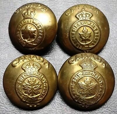 Collection of 4 Royal Canadian Military Buttons - United Carr Canada