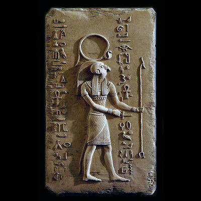 Amor Ra ancient Egyptian Wall Relief Sculpture Plaque reproduction replica