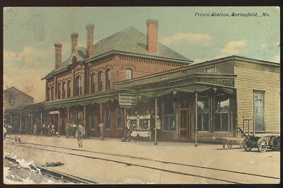 Early Picture Pc, Frisco Station, Springfield, Mo. Railroad, News Stand +